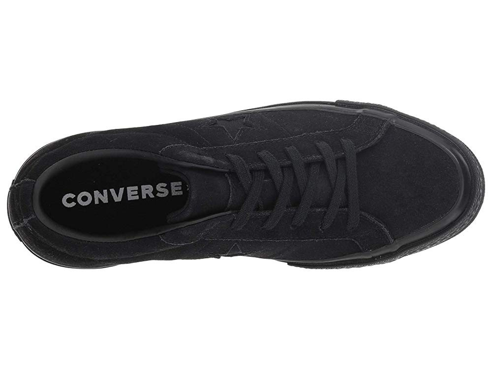 Converse Kids One Star - Ox (Big Kid) Black/Black/Black