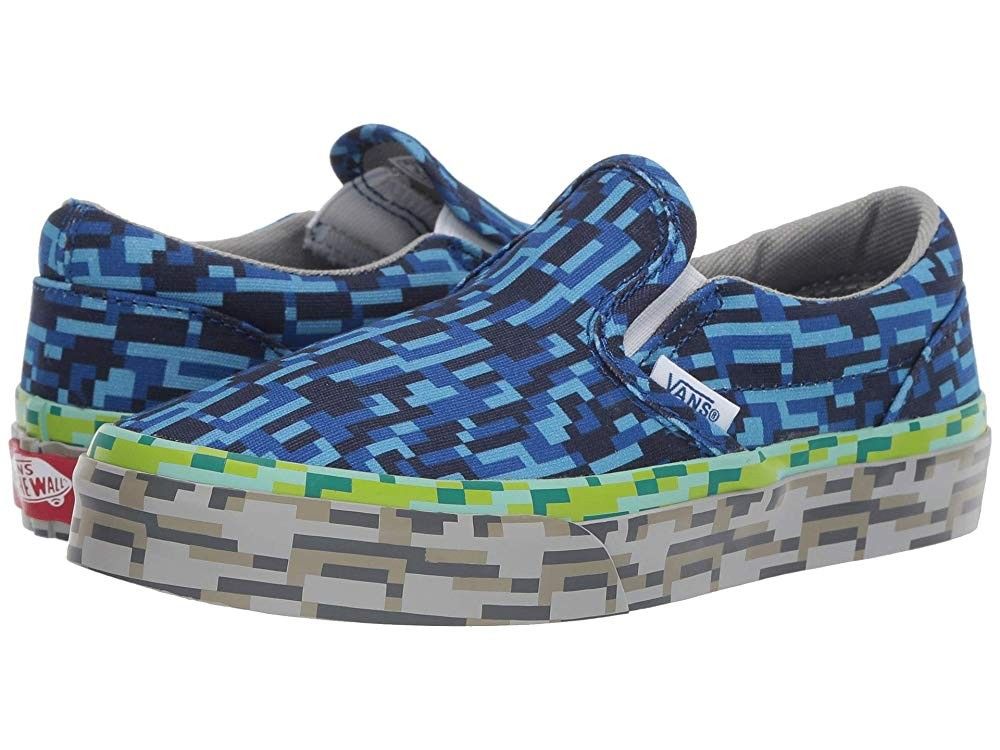 [ Hot Deals ] Vans Kids Classic Slip-On (Little Kid/Big Kid) (Digi Earth) Water/Grass/Rock