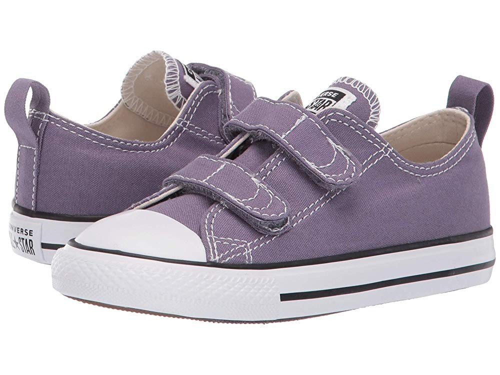 Black Friday Converse Kids Chuck Taylor® All Star® 2V Seasonal Ox (Infant/Toddler) Moody Purple/Natural Ivory/White Sale