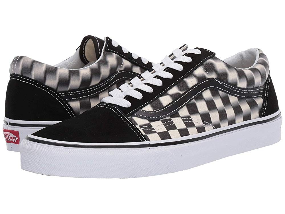 [ Hot Deals ] Vans Old Skool™ (Blur Check) Black/Classic White