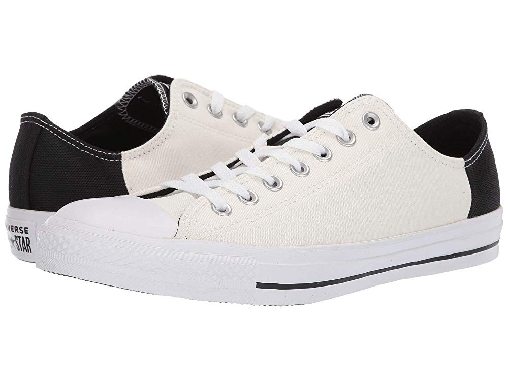[ Hot Deals ] Converse Chuck Taylor® All Star® Color Block Patch Ox Egret/Black/White