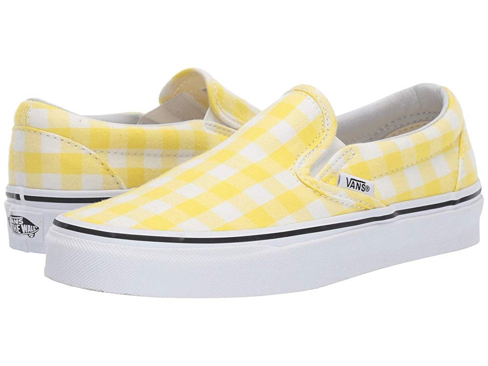 [ Hot Deals ] Vans Classic Slip-On™ (Gingham) Blazing Yellow/True White