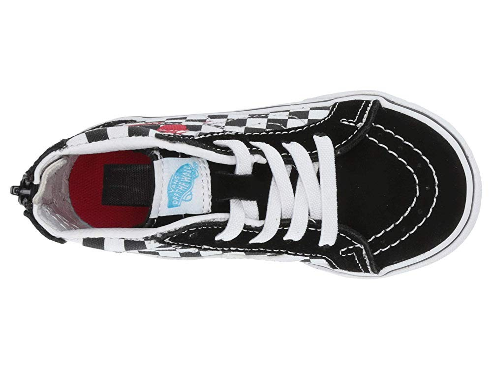[ Hot Deals ] Vans Kids Vans x David Bowie Sneaker Collab (Infant/Toddler) (Sk8-Hi Zip) Bowie/Checkerboard