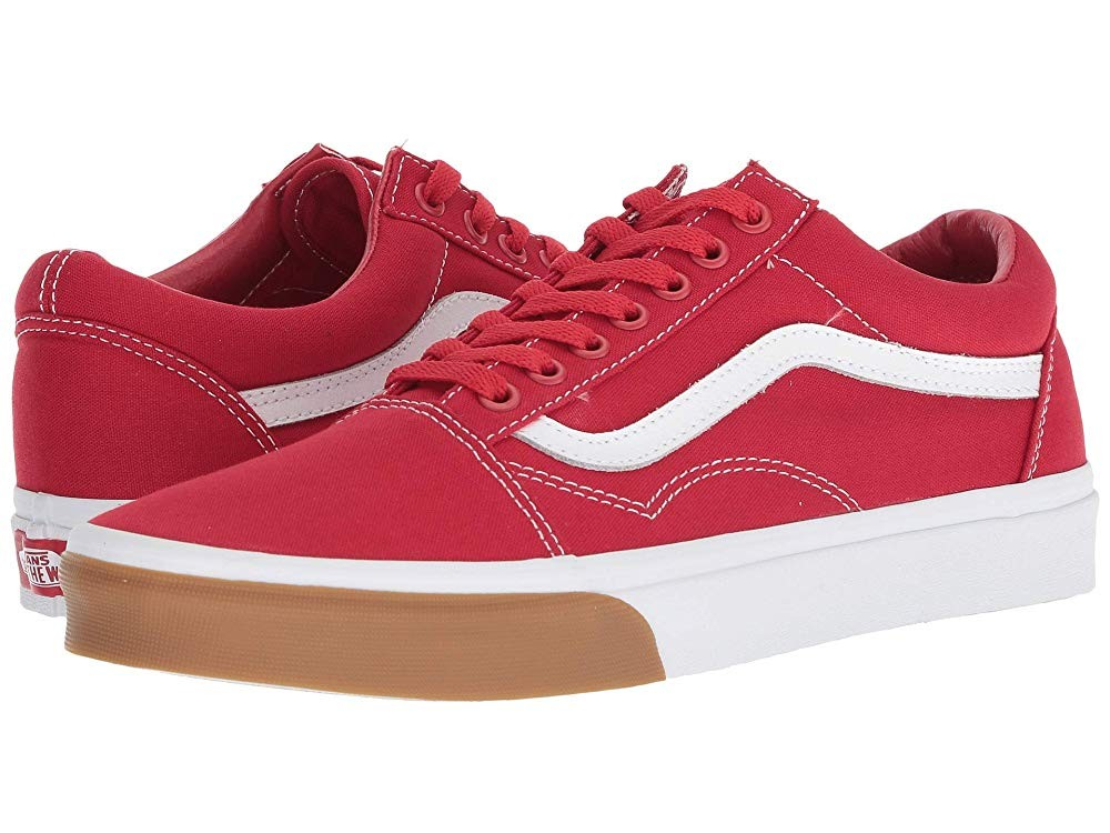 [ Hot Deals ] Vans Old Skool™ (Gum Bumper) Red/True White