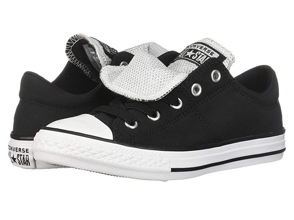 Black Friday Converse Kids Chuck Taylor All Star Maddie Metallic - Slip (Little Kid/Big Kid) Black/White/White Sale