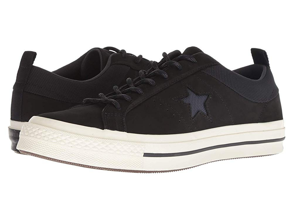[ Hot Deals ] Converse One Star - Ox Black/Almost Black/Black