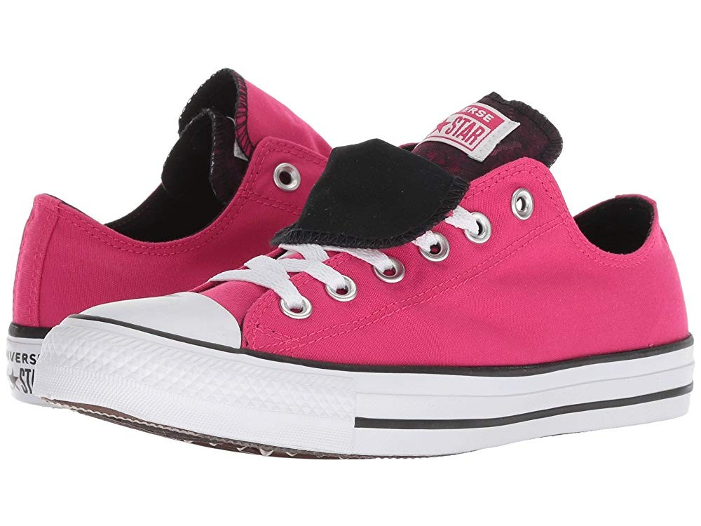 Black Friday Converse Chuck Taylor All Star Double Tongue - Floral Ox Pink Pop/White/Black Sale