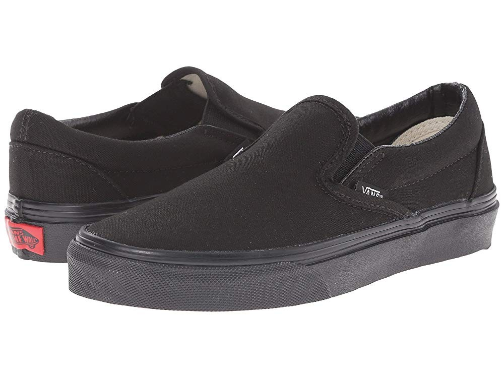 [ Hot Deals ] Vans Classic Slip-On™ Core Classics Black/Black (Canvas)